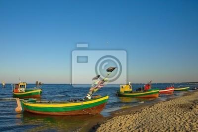 Barcos de pesca en Sopot