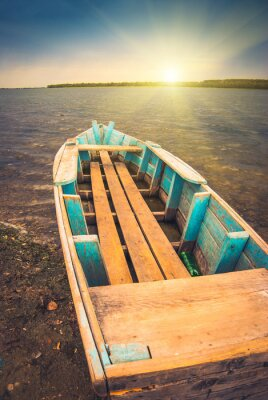 Póster Barcos en un río_3