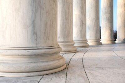 Póster Base de columnas jónicas en el Jefferson Memorial en Washington DC
