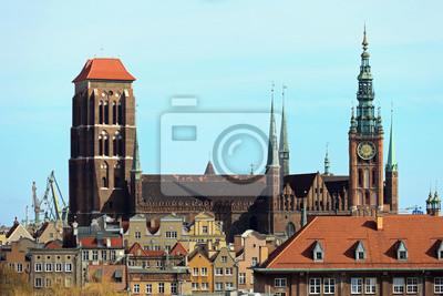 Basílica de Santa María en Gdansk, Polonia.