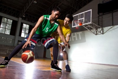 Póster Basketbal player in the game