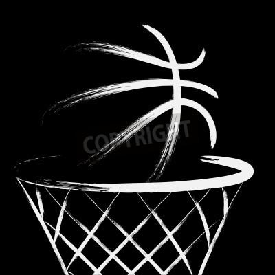 Póster Basketball, vector
