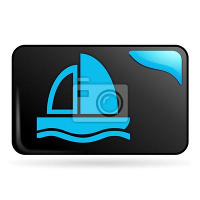 bateau sur voilier Bouton web rectángulo bleu