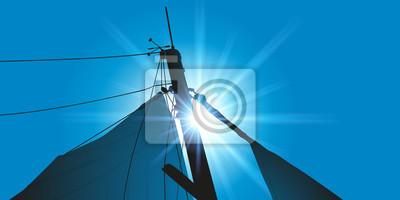 Bateau - voilier - barco de vela - mât de voilier - marin