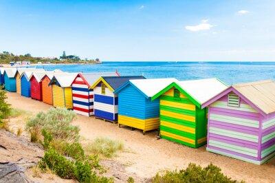 Póster Bathing boxes at Brighton Beach, Australia