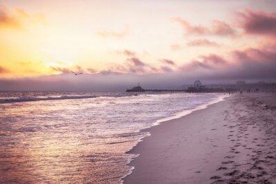 Póster Beautiful beach on sunset