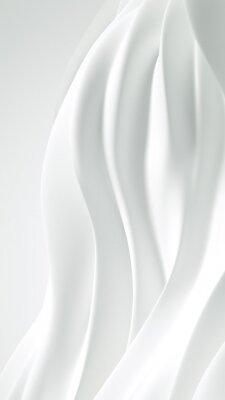 Póster Beautiful luxury elegant backdrop with silk fabric drapery. 3d illustration, 3d rendering.