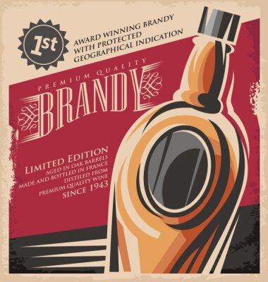 Póster Bebida Retro concepto creativo de medios impresos