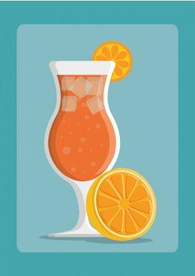 Póster Bebidas icono de diseño