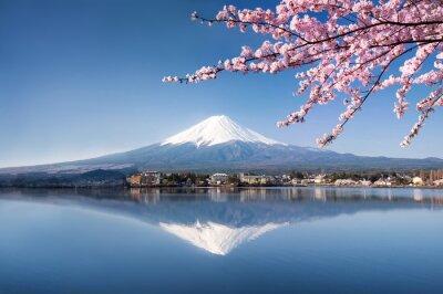 Póster Berg Fuji in Kawaguchiko Japan