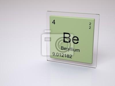 pster berilio smbolo be elemento qumico de la tabla peridica - Tabla Periodica Berilio