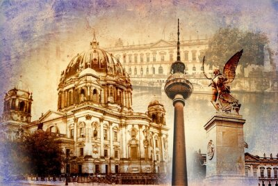 Póster Berlín arte, ilustración, diseño