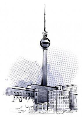 Póster Berlín Sketch