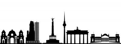 Póster berlin skyline de la ciudad