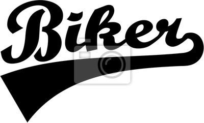 Biker palabra retro