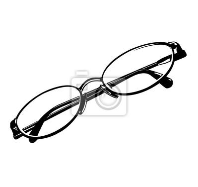 Blanco y negro del ojo de vidrios