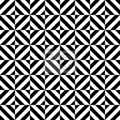 blanco y negro en forma de diamante patrón geométrico sin fisuras