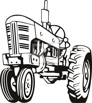 Blanco y negro Tractor
