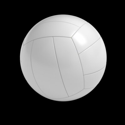 Póster Blank volleyball ball isolated with clipping path
