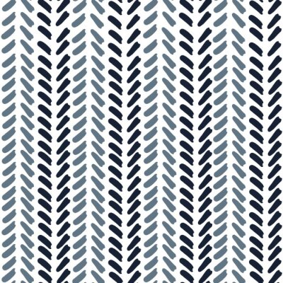 Póster Blue Geometric Abstract V shaped Line Pattern. Seamless repeat. Blue v shapes with white background. Directional. Pantone Color of the year.
