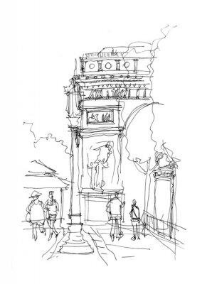 Póster Boceto Arco del Triunfo