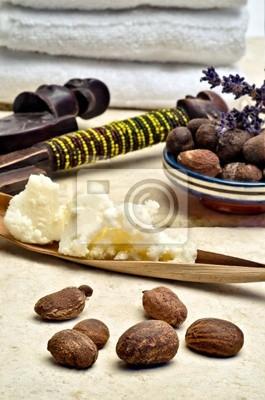 Bodegón de nueces y la manteca