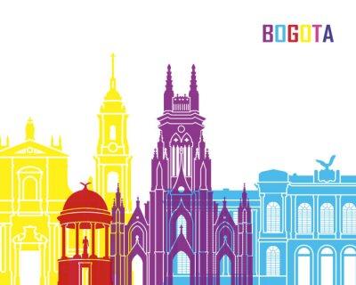 Póster Bogotá skyline pop