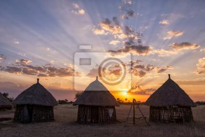 Boma Puesta de sol - Tanzania