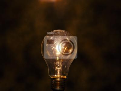 bombilla con baja concepción fondo clave para la idea cr