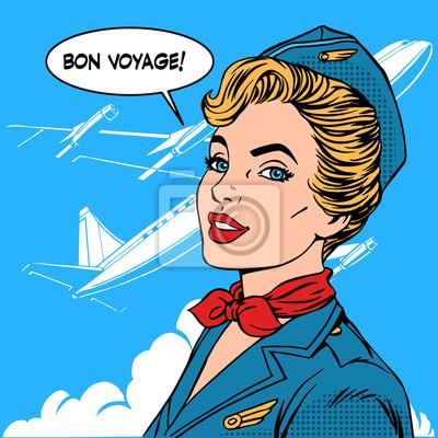 Bon voyage azafata avión viajar turismo