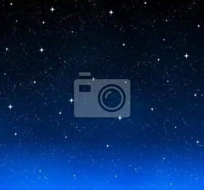 Bonitas Estrellas Brillantes En El Cielo Nocturno Carteles Para La