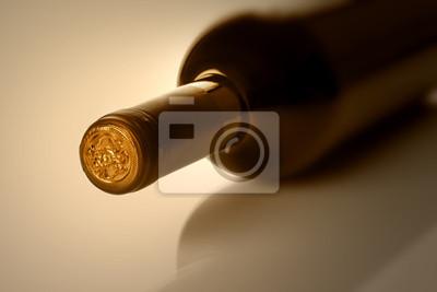 Botella de vino en sephia
