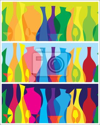botellas abstractas