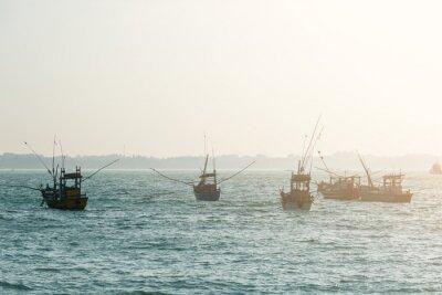 Póster Botes de pesca