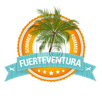 Póster Botón Vacaciones: Fuerteventura