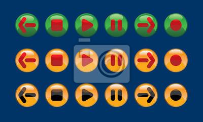 botones de contraste