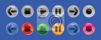 botones redondos