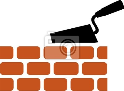 Brick with Trowel Symbol