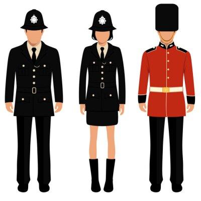 Póster Británico guardia, inglés gente, británico policía