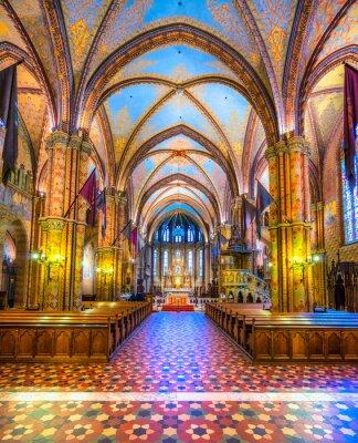 Póster Budapest, Catedral de Matías, Hungría