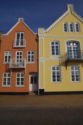 Póster Bunte Häuser en Sonderburg