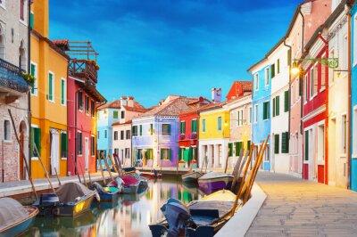 Póster Burano Venecia Italia