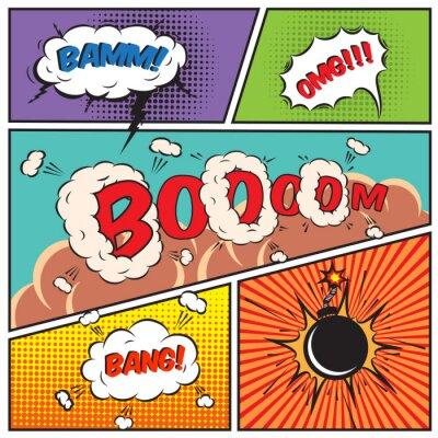Póster Burbujas cómicas del discurso