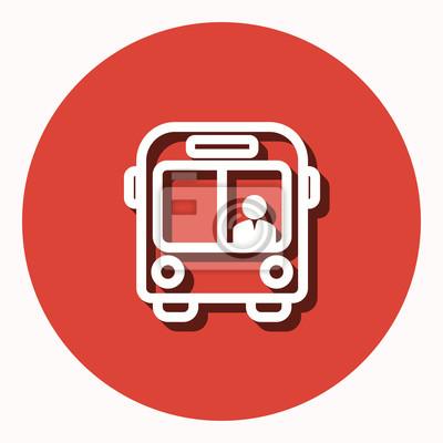 Bus - icono de vector.