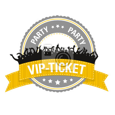 Póster Button: Ticket VIP Party