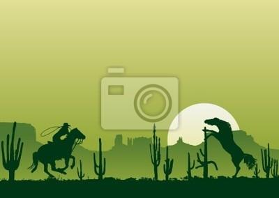 Caballos salvajes del oeste