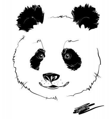 Póster cabeza de panda