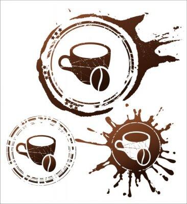 Póster Café elementos de diseño. Ilustración vectorial