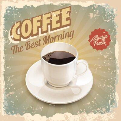 Póster café retro