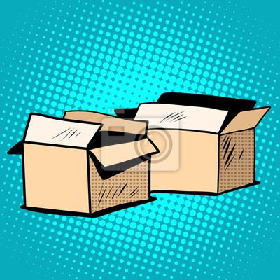 Cajas de embalaje cartón retro